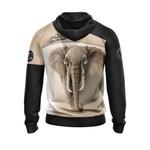 I Love Elephant 3D Hoodie