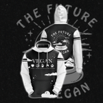 The Future Is Vegan 3D Hoodie