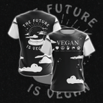 The Future Is Vegan Unisex 3D T-shirt