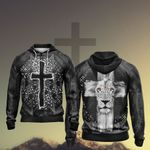 Christian - Fear Not For Jesus The Lion Of Judah Has Triumphed Unisex Zip Up Hoodie Jacket