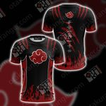Naruto Akatsuki New Look Unisex 3D T-shirt