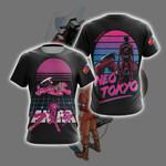 Akira Neon Tokyo Unisex 3D T-shirt