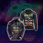 If Its Not Anime Video Games Or Food - Gaming Lovers Unisex 3D Hoodie