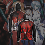 Shin Seiki Evangelion Unisex Zip Up Hoodie