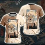 Ukiyo-e Spirited Away Chihiro Zauberland Unisex 3D T-shirt
