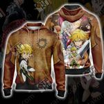 The Seven Deadly Sins Characters Zip Up Hoodie