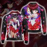 Sailor Moon - Sailor Mars Zip Up Hoodie