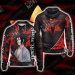 Naruto - Sasuke Uchiha New Style Unisex Zip Up Hoodie