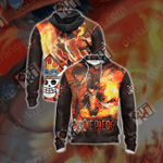 One Piece - Ace New Unisex Zip Up Hoodie