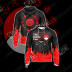 Naruto - The Uchiha Clan Emblem New Unisex Zip Up Hoodie