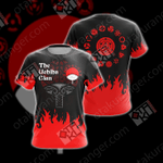 Naruto - The Uchiha Clan Emblem New Unisex 3D T-shirt