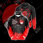 Naruto - The Uchiha Clan Emblem New Unisex 3D Hoodie