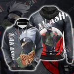Naruto - Kakashi New Look Unisex 3D Hoodie