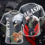 Naruto - Kakashi New Look Unisex 3D T-shirt