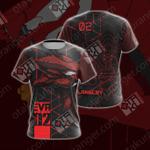 Neon Genesis Evangelion - Eva unit 02 Unisex 3D T-shirt