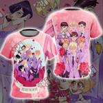 Ouran Highschool Host Club - Kiss Kiss Fall In Love Unisex 3D T-shirt
