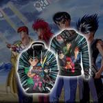 Yu Yu Hakusho - Main Characters Unisex 3D Hoodie