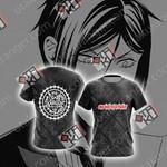 Kuroshitsuji One Hell of a Butler New Look Unisex 3D T-shirt