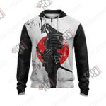 Japanese Samurai Unisex Zip Up Hoodie