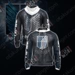 Attack On Titan - Scouting Legion New Stye Unisex Zip Up Hoodie