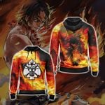 One Piece - Ace New Collection Unisex Zip Up Hoodie