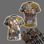 Attack On Titan - Levi Team New Unisex 3D T-shirt