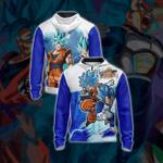 Dragon Ball - Super Saiyan Blue Goku and Vegeta Unisex Zip Up Hoodie