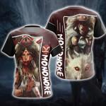 Princess Mononoke Artwork Dump Unisex 3D T-shirt