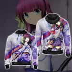 Angel Beats! Yuri Nkamura Unisex Zip Up Hoodie