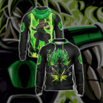 Dragon Ball Z Broly Unisex Zip Up Hoodie