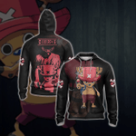 One Piece - The Strawhat's Doctor, Tony Tony Chopper Unisex Zip Up Hoodie
