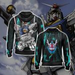 Mobile Suit Zephyranthes Gundam Unisex Zip Up Hoodie