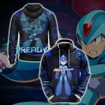 Mega Man - Ready New Version 1 Unisex Zip Up Hoodie