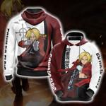 Fullmetal Alchemist - Edward Elric Character New Version 3D Hoodie