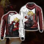 Fullmetal Alchemist - Edward Elric Character New Version Zip Up Hoodie