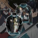 Sword Art Online - Couple Kirito - Asuna Unisex 3D Hoodie