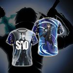 Sword Art Online Kirito Character New Style Unisex 3D T-shirt