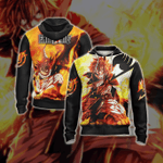 Fairy Tail Natsu Dragneelr New Style Unisex 3D Zip Up Hoodie