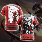 Attack On Titan - Mikasa Ackerman New Look Unisex 3D T-shirt