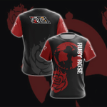Ruby Rose New Collection RWBY Unisex 3D T-shirt