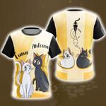 Sailor Moon Luna & Artemis New Style Unisex 3D T-shirt