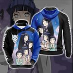 Naruto - Hinata Hyuga New Look Unisex 3D Hoodie