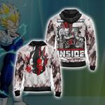 Dragon Ball Vegeta New Style Unisex Zip Up Hoodie