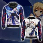 Fate/ Stay Night Saber New Style Unisex Zip Up Hoodie