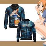 One Piece - Nami New Style Unisex Zip Up Hoodie
