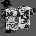 One Piece Ace - Start Living Before U Start Dying New Unisex 3D T-shirt