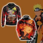 Naruto - Never Give Up Style Unisex 3D Hoodie