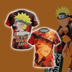 Naruto - Never Give Up Style Unisex 3D T-shirt