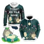 Big Pile Of Nope - Totoro And Snorlax Unisex 3D Hoodie