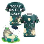 Big Pile Of Nope - Totoro And Snorlax Unisex 3D T-shirt